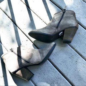 Chelsea Crew Nile Gray Suede Ankle Boots